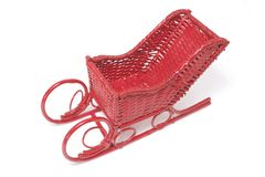Miniature Christmas Sleigh Stock Image