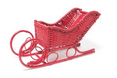 Miniature Christmas Sleigh Stock Images