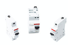 Miniature circuit breakers Stock Photography