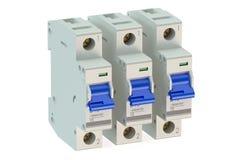 Miniature circuit breakers stock illustration