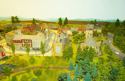 Miniature city. A picture of a miniature European-style town Stock Photos
