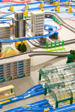 Miniature city stock photos