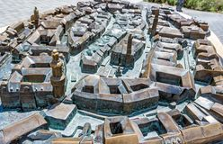 Miniature city model of Sopron in Hungary. Travel destination. Artistic object Royalty Free Stock Photography