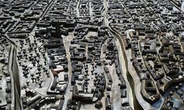 Miniature city model of Zagreb in Croatia. stock images