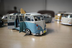 Miniature of classic camper van, VW Transporter T1 Stock Image
