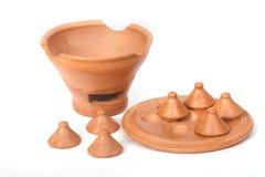 Miniature clay pottery Thai handicraft souvenir Stock Photography