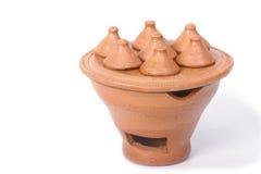 Miniature clay pottery Thai handicraft souvenir Royalty Free Stock Photo
