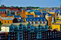 Miniature colorful houses Royalty Free Stock Images