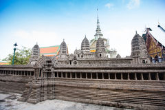 Miniature copy of Angkor Wat Temple in Grand Royal Palace, Bangk Royalty Free Stock Photos