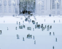 Miniature crowd. Simulated crowd using model cutouts Royalty Free Stock Images