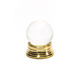 Miniature Crystal Ball. Miniature fortune telling crystal ball on white background Royalty Free Stock Photos