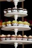 Miniature cupcakes at a wedding Stock Images