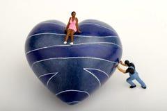 Miniature d'un homme rejetant l'amour Photos libres de droits