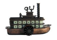 Miniature de bronze de vieux bateau à vapeur image libre de droits