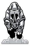 Miniature de rhinocéros avec le fond blanc Photos libres de droits