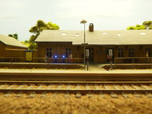 Miniature de station de train images stock