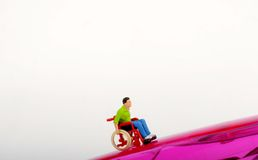 Miniature of a disabled man Royalty Free Stock Image