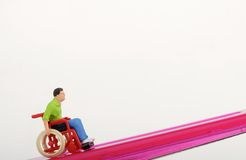 Miniature of a disabled man Royalty Free Stock Images