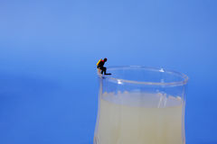 Miniature diver Royalty Free Stock Images