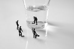 Miniature divers Stock Image