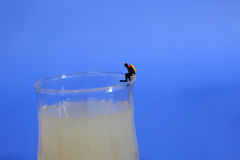 Miniature divers Stock Images
