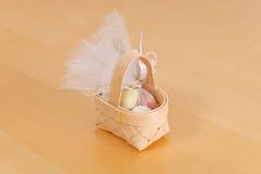 Miniature Easter Egg Basket Stock Image