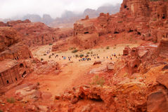 Miniature effect of Petra Stock Photo