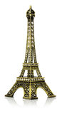 Miniature of the Eiffel Tower isolated on the white background Stock Image