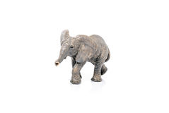 Miniature of an elephant on white background Stock Image