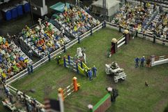 Miniature. Equestrian competition in miniature - concours hippique Royalty Free Stock Photo