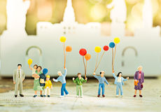 Miniature family using as background International day of families concept.  Stock Image