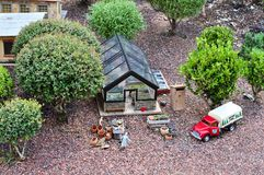 Miniature Farm Stock Photo