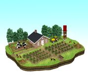 Miniature of a Farm Concept Royalty Free Stock Image