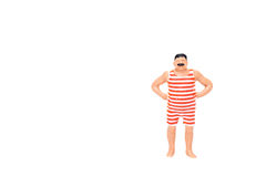 Miniature fat people isolate on white background. Close up of Miniature fat people isolate on white background. Elegant Design with copy space for placement royalty free stock photo