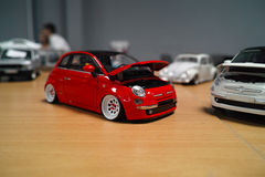 Miniature of Fiat 500 Royalty Free Stock Images