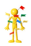 Miniature Figure with Plastic Tags Royalty Free Stock Photo