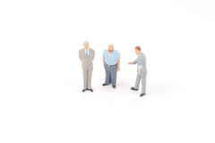 Miniature figures of business man Stock Images