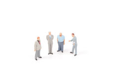 Miniature figures of business man Royalty Free Stock Images