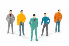Miniature figures of businessman Royalty Free Stock Photo