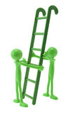 Miniature Figures and Ladder Royalty Free Stock Images