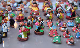 Miniature figures of lovers in clothes of Bolivia Stock Photos