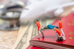 Miniature figures of paramedic personnel Royalty Free Stock Photo