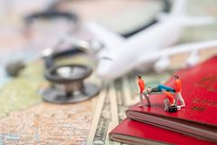 Miniature figures of paramedic personnel Royalty Free Stock Photos