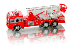 Miniature fire truck Stock Photo