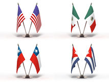 Miniature Flags () Stock Photo
