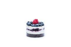 Miniature forest fruit desserts. Delicious miniature forest fruit desserts Stock Image