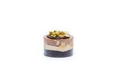 Miniature forest fruit desserts. Delicious miniature forest fruit desserts Stock Photos