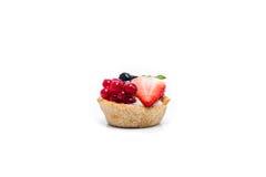 Miniature forest fruit desserts. Delicious miniature forest fruit desserts Royalty Free Stock Image