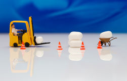 Miniature forklift Royalty Free Stock Photography
