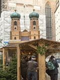 Miniature Frauenkirche church in Munich, Germany Royalty Free Stock Image
